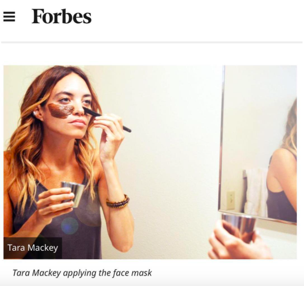 Sharing My Organic DIY Face Mask with Forbes